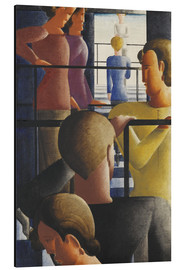 Aluminium print  Group on the Railing - Oskar Schlemmer