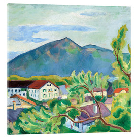 Acrylic print  Spring landscape in Tegernsee - August Macke