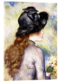Acrylic print  Girl with tulips - Pierre-Auguste Renoir
