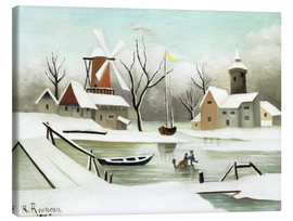 Canvas print  Winter Landscape - Henri Rousseau