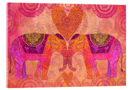 Acrylic print  Elephants in Love - Andrea Haase