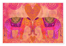 Premium poster Elephants in Love