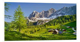 Foam board print  Alpine Dream II - Rainer Mirau