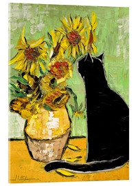 Acrylic print  The cat of Van Gogh - JIEL