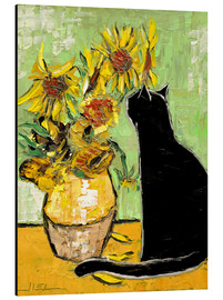 Aluminium print  The cat of Van Gogh - JIEL