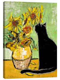 Canvas print  The cat of Van Gogh - JIEL