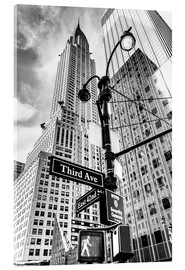 Acrylic glass  Chrysler Building, New York City (monochrome) - Sascha Kilmer
