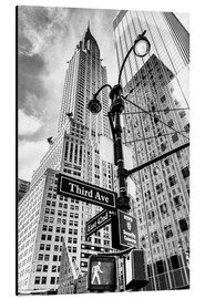 Aluminium print  Chrysler Building, New York City (monochrome) - Sascha Kilmer