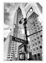 Premium poster  Chrysler Building, New York City (monochrome) - Sascha Kilmer