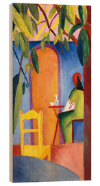 Wood print  Turkish Café II - August Macke