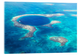Acrylic print  Great Blue Hole, Belize - Matteo Colombo