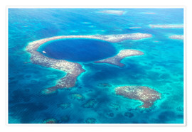 Premium poster  Great Blue Hole, Belize - Matteo Colombo