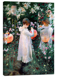 Canvas  Carnation, Lily, Rose - John Singer Sargent