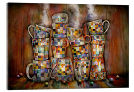 Acrylic glass  Coffee Time with Artwork - teddynash