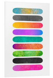 Foam board print  Tropical sticks - Elisabeth Fredriksson