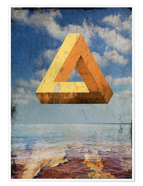 Premium poster  Penrose triangle - Dieter Ziegenfeuter