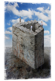 Acrylic print  Penrose stairs - Dieter Ziegenfeuter