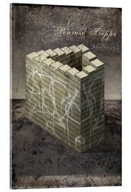 Acrylic print  Penrose stairs vintage - Dieter Ziegenfeuter