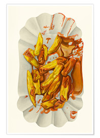 Premium poster  French fries with ketchup - Dieter Ziegenfeuter