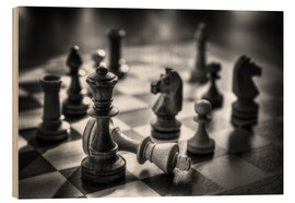 Wood print  chess - Filtergrafia