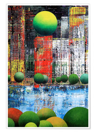 Premium poster  New York  Central Park, abstract - Gerhard Kraus
