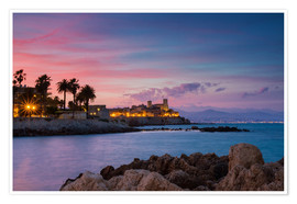 Premium poster  Antibes at sunset, Provence - Circumnavigation