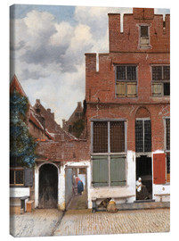 Canvas print  The little street - Jan Vermeer