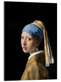 Acrylic print  Girl with the Pearl Earring - Jan Vermeer