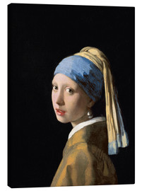 Canvas  Girl with a Pearl Earring - Jan Vermeer