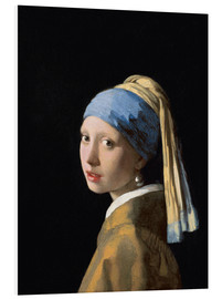 Foam board print  Girl with the Pearl Earring - Jan Vermeer