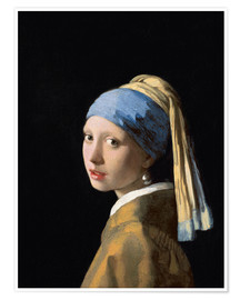 Premium poster  Girl with the Pearl Earring - Jan Vermeer
