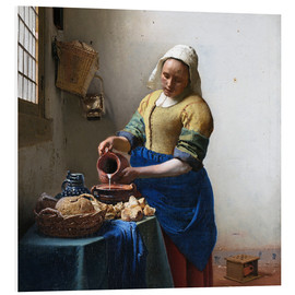 Foam board print  The Milkmaid - Jan Vermeer