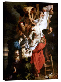 Canvas print  Descent from the Cross - Peter Paul Rubens