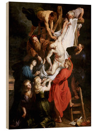 Wood print  Descent from the Cross - Peter Paul Rubens