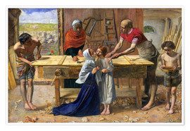 Premium poster  Christ in the house of his parents - Sir John Everett Millais