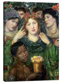 Canvas print  The beloved - Dante Charles Gabriel Rossetti