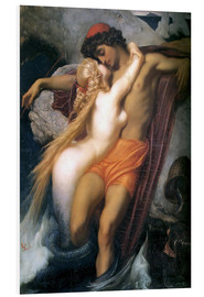 Foam board print  The Fisherman and the Syren - Frederic Leighton