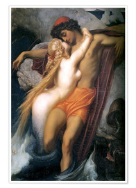 Premium poster  The Fisherman and the Syren - Frederic Leighton