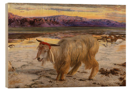 Wood print  The Scapegoat - William Holman Hunt