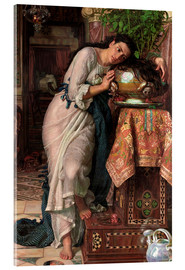 Acrylic print  Isabella and the pot of Basil - William Holman Hunt