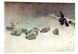 Acrylic print  The Cheerless Winter's Day - Joseph Farquharson