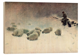 Wood print  The Cheerless Winter's Day - Joseph Farquharson