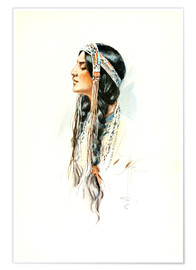 Premium poster  Red Indian squaw - Harrison Fisher