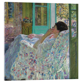 Acrylic glass  Afternoon, Yellow Room - Frederick Carl Frieseke