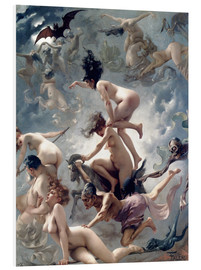 Foam board print  Witches going to their Sabbath - Luis Ricardo Falero