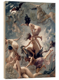 Wood print  Witches going to their Sabbath - Luis Ricardo Falero