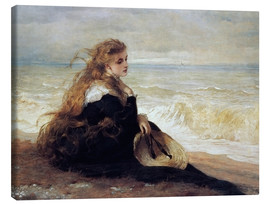Canvas print  On the Seashore - George Elgar Hicks