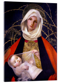 Acrylic glass  Madonna and Child - Marianne Stokes