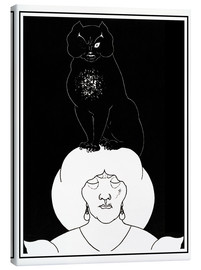 Canvas print  The black cat - Aubrey Vincent Beardsley