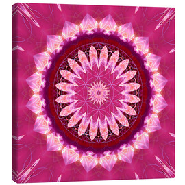 Canvas  Mandala pinkblossom with flower of life - Christine Bässler